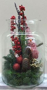 Εικόνα της Χριστουγεννιάτικη Σύνθεση σε Γυάλα