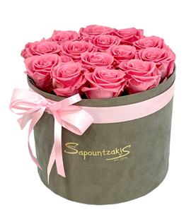 Εικόνα της Γκρι κουτί Forever Roses Ροζ
