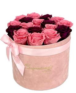 Εικόνα της Ροζ Κουτί Forever Roses Ροζ-Μωβ