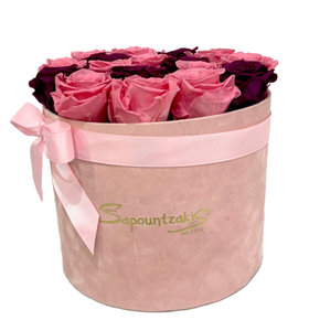 Picture of Pink Box Forever Roses Pink-Purple