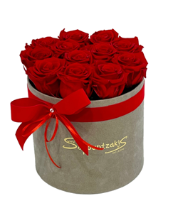 Picture of Grey Box Forever Roses Red