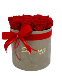 Εικόνα της Γκρι Κουτί Forever Roses Κόκκινο