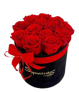 Εικόνα της Μαύρο Κουτί Forever Roses Κόκκινο