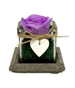 Picture of Wooden Base Forever Purple Lilac
