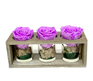 Picture of Wooden Base 3 Forever Purple Lilac